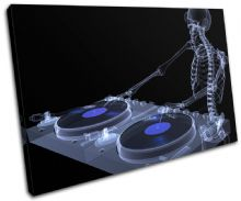 DJ Skeleton Abstract Blue DJ Club - 13-0016(00B)-SG32-LO